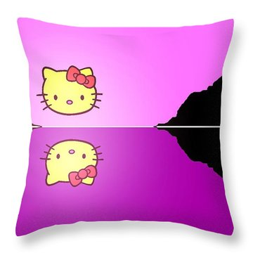 Hello Kitty Sunrise Throw Pillow by George Pedro