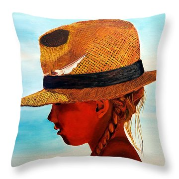 Hello Mr. Sunshine Throw Pillow
