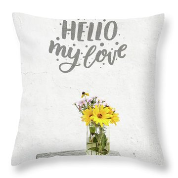 Throw Pillow featuring the photograph Hello My Love Card by Edward Fielding