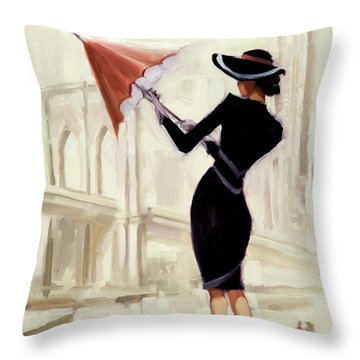 Hello New York Throw Pillow