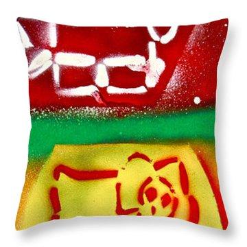 Hello Punk Kitty Throw Pillow by Tony B Conscious
