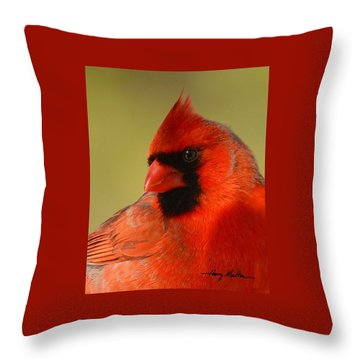 Hello Red Throw Pillow