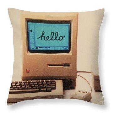 Hello Remember Me Throw Pillow