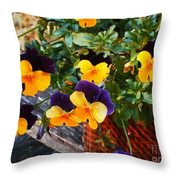 Hello Spring Throw Pillow by Donna Dixon
