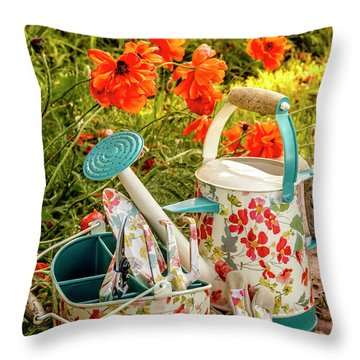 Throw Pillow featuring the photograph Hello Summer by Teri Virbickis