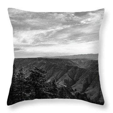 Hells Canyon Drama Throw Pillow