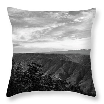 Hells Canyon Drama Throw Pillow