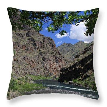 Hells Canyon Snake River Throw Pillow