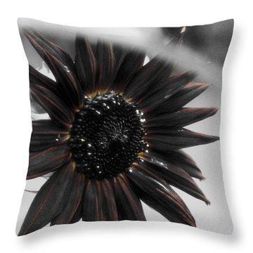 Hells Sunflower Throw Pillow