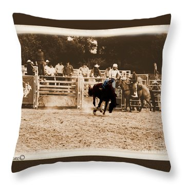 Helluva Rodeo-the Ride 2 Throw Pillow