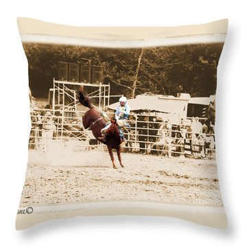 Helluva Rodeo-the Ride 3 Throw Pillow