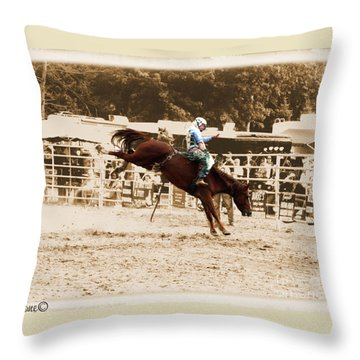 Helluva Rodeo-the Ride 4 Throw Pillow