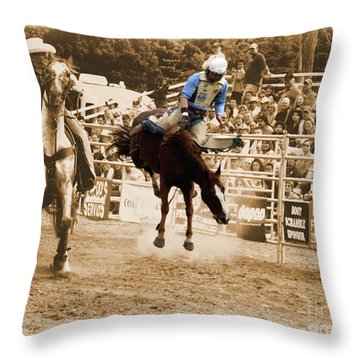 Helluva Rodeo-the Ride 5 Throw Pillow