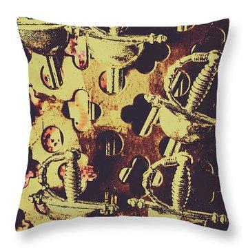 Helm Of Antique War Throw Pillow