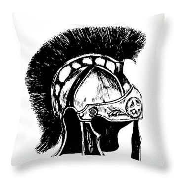Helmet Of Salvation Throw Pillow by Maryn Crawford