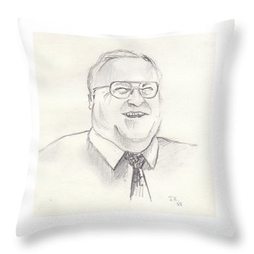 Helmut Kohl Throw Pillow by John Keaton