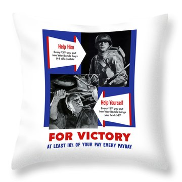 Help Him Help Yourself  Throw Pillow by War Is Hell Store
