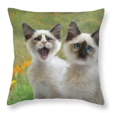 Help  Throw Pillow