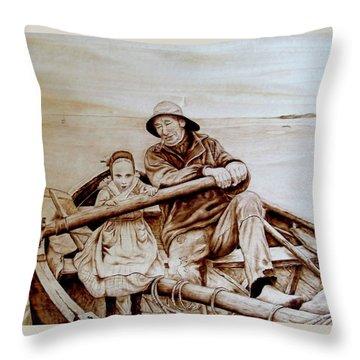 Helping Hands Throw Pillow by Jo Schwartz