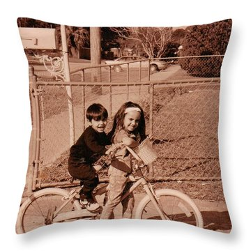 Helping My Brother..... Throw Pillow