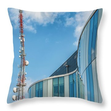 Throw Pillow featuring the photograph Helsingborg Arena Concert Hall by Antony McAulay