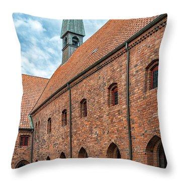 Throw Pillow featuring the photograph Helsingor Saint Mary Church by Antony McAulay