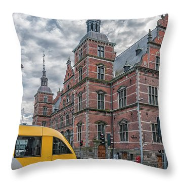 Throw Pillow featuring the photograph Helsingor Train Station by Antony McAulay