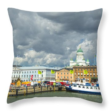 Helsinki, South Harbor Throw Pillow