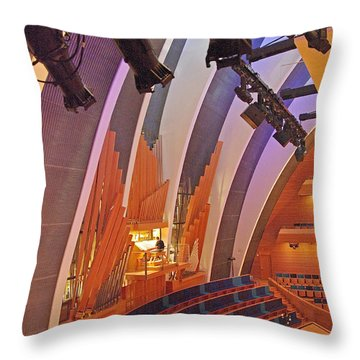 Helzberg Hall #3 Throw Pillow by Jim Mathis