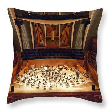 Helzberg Hall Throw Pillow by Jim Mathis