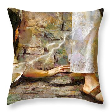 Hem Of His Garment Throw Pillow