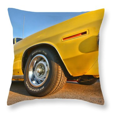 Hemi 'cuda - Ready For Take Off Throw Pillow by Gordon Dean II