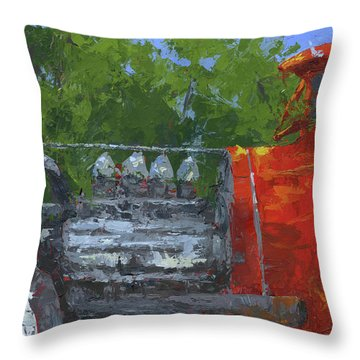 Hemi Hot Rod Throw Pillow