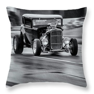 Hemi Powered 1932 Ford 5 Window Coupe Throw Pillow by Ken Morris