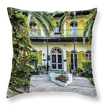 Throw Pillow featuring the photograph Hemingway House - Key West by Bob Slitzan