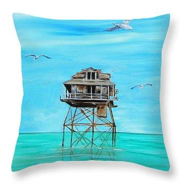 Hemingway Stilt House Throw Pillow