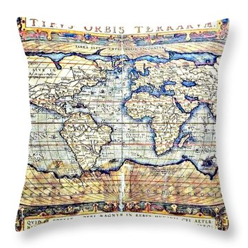 Hemisphere World  Throw Pillow