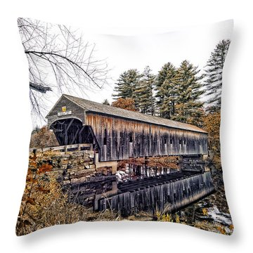 Throw Pillow featuring the photograph Hemlock Covered by Richard Bean