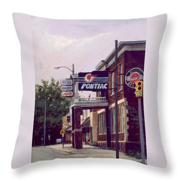 Hemlock Hotel Throw Pillow