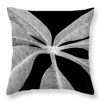 Hemp Tree Leaf Throw Pillow