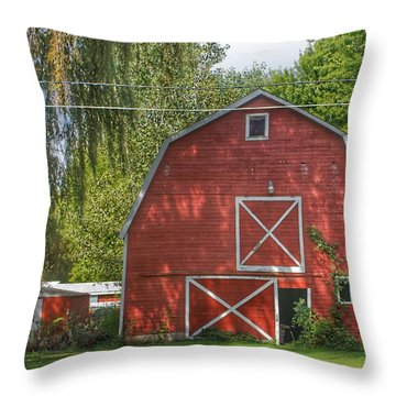 0018 - Henderson Road Red I Throw Pillow