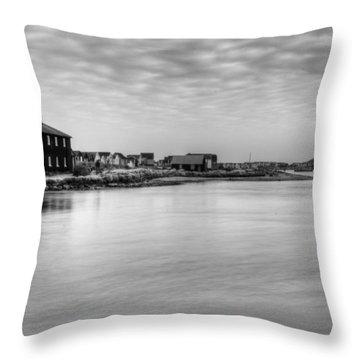 Hengistbury Huts Throw Pillow