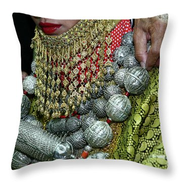 Henna Ceremony  Throw Pillow by Chen Leopold