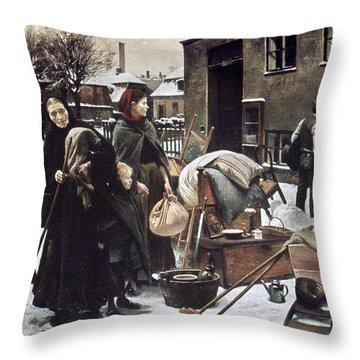 Henningsen  Evicted 1890 Throw Pillow by Granger