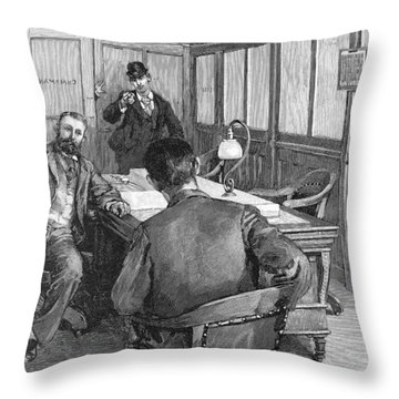 Henry Clay Frick  (1849-1919) Throw Pillow by Granger