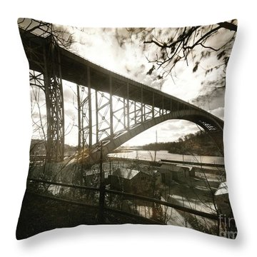 Henry Hudson Bridge, 1936 Throw Pillow