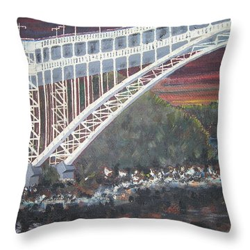 Henry Hudson Bridge Throw Pillow