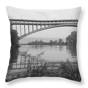 Henry Hudson Bridge  Throw Pillow by Cole Thompson