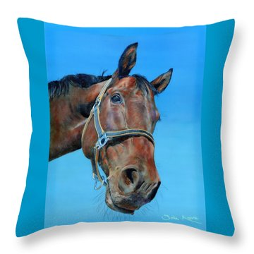 Throw Pillow featuring the painting Henry by John Neeve