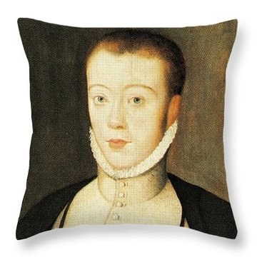 Henry Stewart Lord Darnley Married Mary Queen Of Scots 1565 Throw Pillow